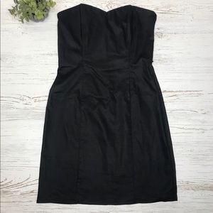 Black Strapless Dress H&M